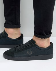 Fred Perry Spencer Mesh Suede Trainers Green