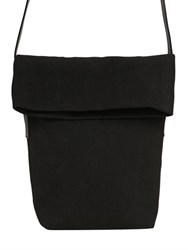 Ann Demeulemeester Folded Canvas And Leather Shoulder Bag