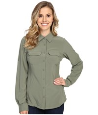 Columbia Saturday Trail Iii L S Shirt Cypress Women's Long Sleeve Button Up Green