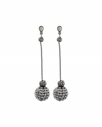 Lydell Nyc Crystal Fireball Dangle Earrings Gray