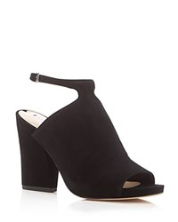 Via Spiga Prim Ankle Strap Peep Toe Booties Black