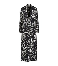 Giambattista Valli Floral Crepe Maxi Coat Female Black