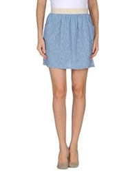 Pf Paola Frani Mini Skirts Pastel Blue