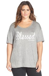 Plus Size Women's Cj By Cookie Johnson Screenprint Tee Heather Grey