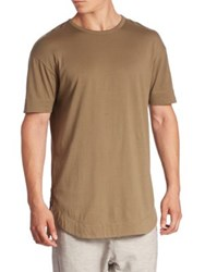 Zanerobe Solid Curved Front Tee Military Green