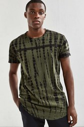 Feathers Long Dye Effect Tee Olive