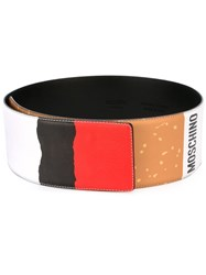 Moschino Cigarette Belt White