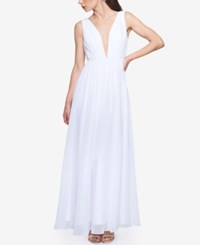 Fame And Partners Long Dress With Back Chain White