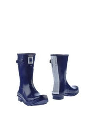 Barbour Ankle Boots Dark Blue