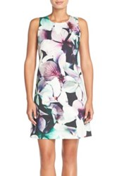 Felicity And Coco Floral Cotton Twill Shift Dress Black