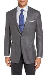 Hart Schaffner Marx Men's Big And Tall Classic Fit Wool And Cashmere Blazer Grey Plain