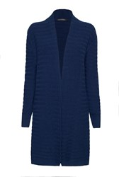 James Lakeland Ribbed Cardigan Navy