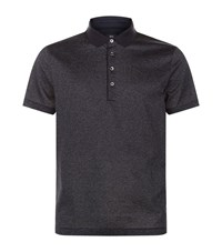 Boss Speckled Polo Shirt Male Black