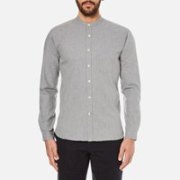 Oliver Spencer Men's Grandad Shirt Grey