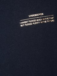 Undercover Metallic Print T Shirt Blue