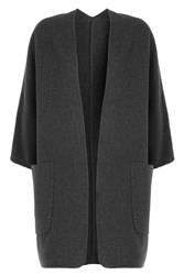Vince Reversible Wool Cardigan With Cashmere Grey
