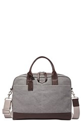 Men's Fossil 'Wyatt' Canvas Work Bag Grey