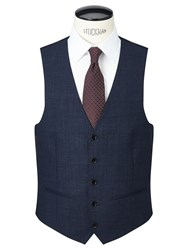 John Lewis Prince Of Wales Check Tailored Waistcoat Navy