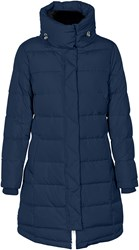 Soaked In Luxury Long Quilted Jacket Navy