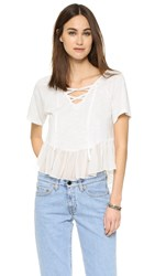 Elizabeth And James Sissy Top White