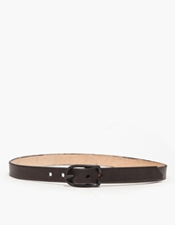 Cause And Effect Flat Black 1' Leather Belt