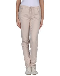 Peacock Blue Trousers Casual Trousers Women Light Pink