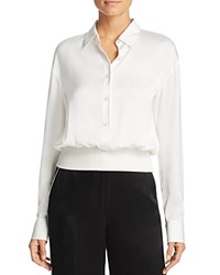 Dkny Silk Pullover Blouse Gesso
