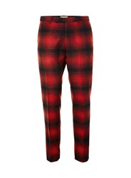 Topman Noose And Monkey Red And Black Check Suit Trousers