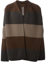 Rick Owens Oversized Striped Cardigan Multicolour