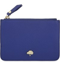 Mulberry Tree Leather Coin Pouch Neon Blue