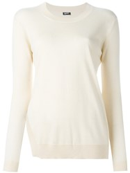 Jil Sander Navy Crew Neck Jumper Nude And Neutrals