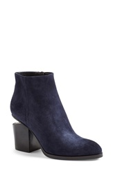Alexander Wang 'Gabi' Leather Bootie Women Dark Blue Suede