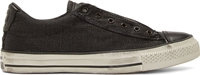 Converse Black Canvas And Leather Chuck Taylor Sneakers