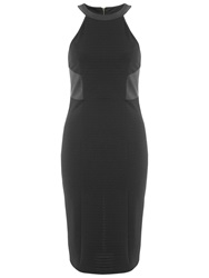Miss Selfridge Pu Panelled Dress Black
