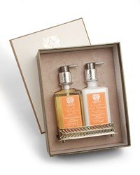 Orange Blossom Hand Wash And Moisturizer Gift Set With Tray Antica Farmacista