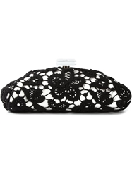 Chanel Vintage Large Floral Lace Clutch