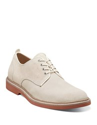 Florsheim Bucktown Suede Plain Toe Oxfords White