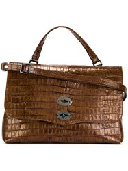 Zanellato Medium 'Postina' Satchel Brown