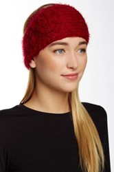 David And Young Fuzzy Flower Headwrap Red