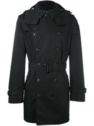 Burberry Double Breasted Coat Black