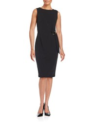 Calvin Klein Buckle Accented Sheath Dress Black