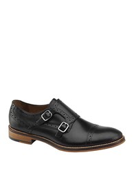 Johnston And Murphy Conrad Double Buckle Monk Strap Black