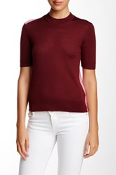 Marc By Marc Jacobs Superfine Merino Wool Mock Neck Sweater Red