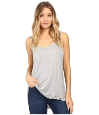 Hurley Staple Sessions Tank Top Light Heather Grey Women's Sleeveless Silver