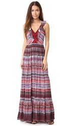 Saloni Suzi Dress Garnet Raffia Cranberry