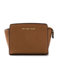 Michael Michael Kors Mini 'Selma' Cross Body Bag Brown
