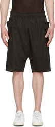 Damir Doma Black Cotton Track Shorts