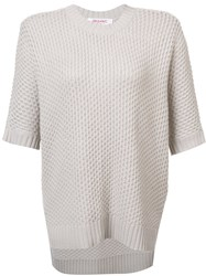Organic By John Patrick Shortsleeved Knit Blouse Nude And Neutrals