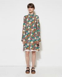 Marni Floral Georgette Dress