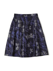 Precis Petite Jeff Banks Blue Jacquard Skirt Multi Coloured Multi Coloured
